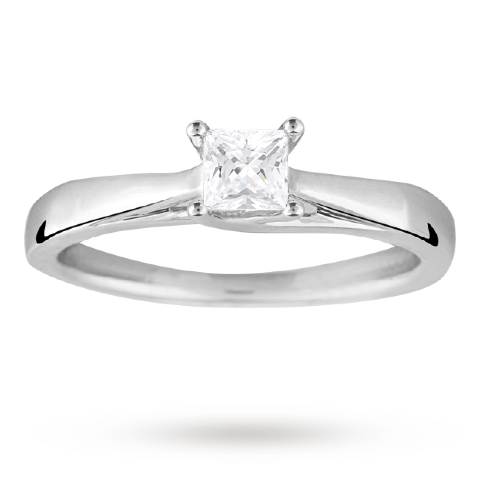 carat facet diamond white ring p gold princess cut
