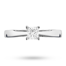 Platinum Princess Cut 0.30 Carat 88 Facet Diamond Ring