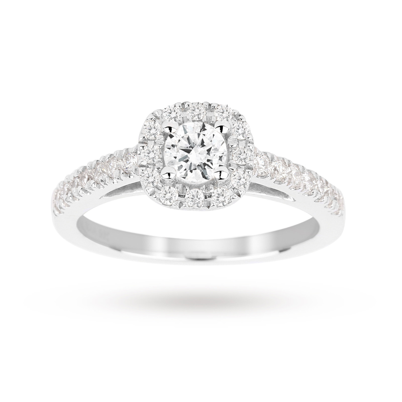 diamond princess white gold p ring facet carat cut
