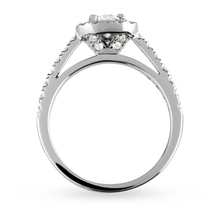 18ct White Gold Brilliant Cut 1.00 Carat 88 Facet Diamond Ring