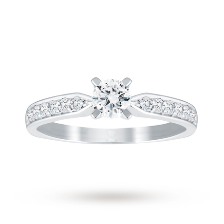 18ct White Gold 0.50cttw Diamond Solitaire Ring