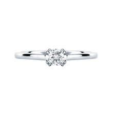 Platinum 0.30 Carat Diamond Plain Shoulder Engagement Ring