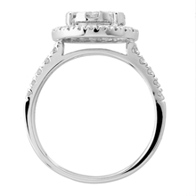 18ct White Gold 1.00ct Diamond Multi Stone Halo Ring