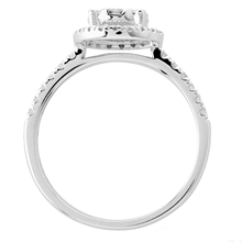 18ct White Gold 0.50ct Diamond Multi Stone Halo Ring