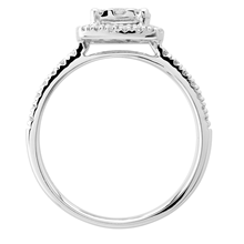 18ct White Gold 0.50ct Diamond Cushion Multi Stone Halo Ring