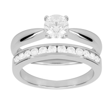 18ct White Gold 1.00ct Channel Set Bridal Set
