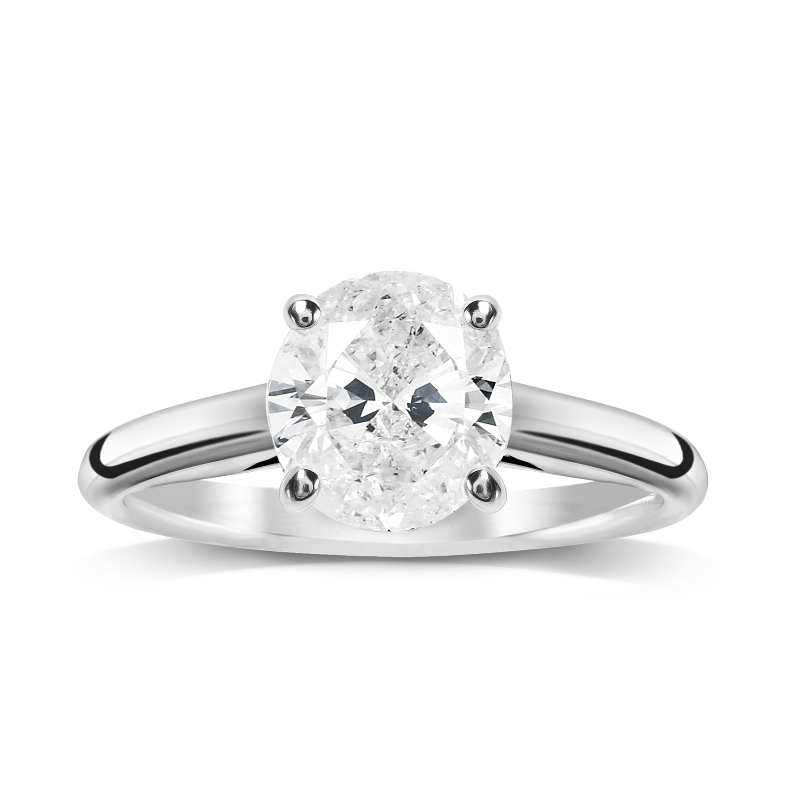 18ct White Gold 1.00ct Brilliant Cut Solitaire Ring - Ring Size J