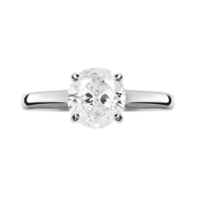 18ct White Gold 1.00ct Brilliant Cut Solitaire Ring