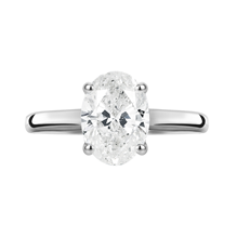 18ct White Gold 1.00ct Oval Cut Solitaire Ring