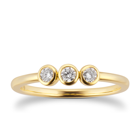 Gossamer 18ct Yellow Gold 0.15cttw 3 Stone Ring