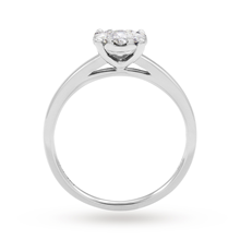 9ct White Gold 0.40cttw Diamond Cluster Engagement Ring