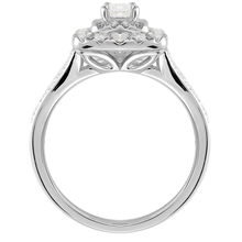 18ct White Gold Princess Cut 0.80cttw Double Halo Ring