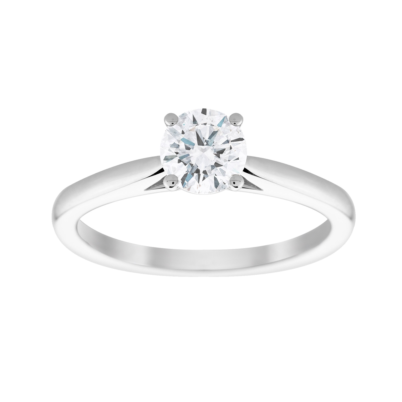 18ct White Gold 0.70cttw Solitaire Engagement Ring - Ring Size L