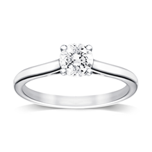 Platinum 0.50ct Brilliant Cut Diamond Solitaire Ring - M06018026
