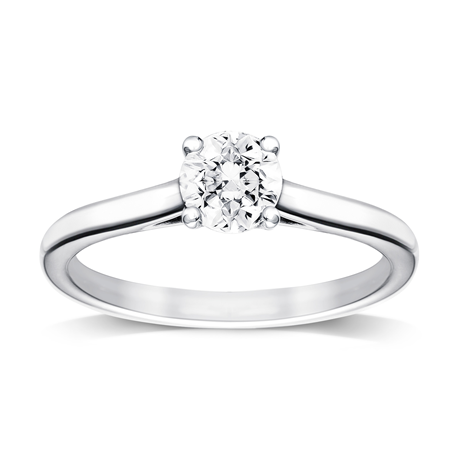 Platinum 0.50ct Brilliant Cut Diamond Solitaire Ring
