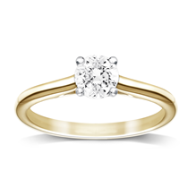 18ct Yellow Gold 0.50ct Brilliant Cut Diamond Solitaire Ring - M06018026