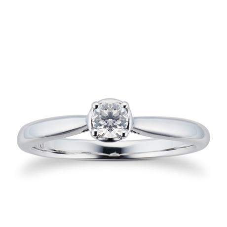 9ct White Gold  0.20ct Diamond Illusion Ring