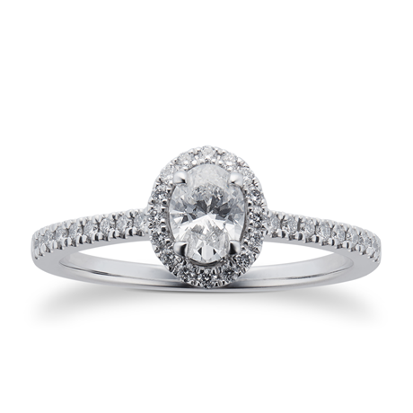 Amelia Platinum 0.75cttw Diamond Engagement Ring