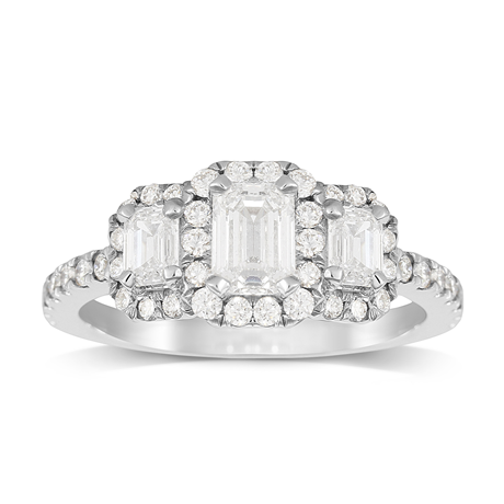 Amelia Platinum 1.50cttw Diamond Engagement Ring