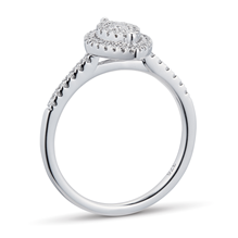 9ct White Gold 0.33cttw Diamond Marquise Cluster Ring
