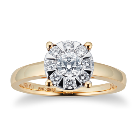 18ct Yellow Gold 0.50cttw Diamond Multistore Ring