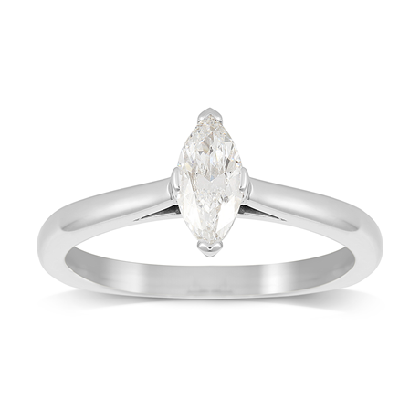 Belvedere Platinum 0.50ct Marquise Diamond Engagement Ring
