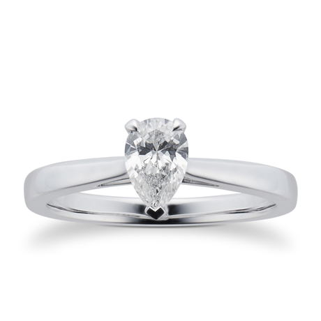 Belvedere Platinum 0.50ct Pear Diamond Engagement Ring