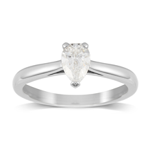 Belvedere Platinum 0.80ct Pear Diamond Engagement Ring