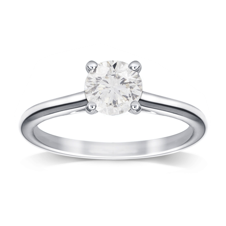 Platinum 1.00ct Brilliant Cut Diamond Engagement Ring