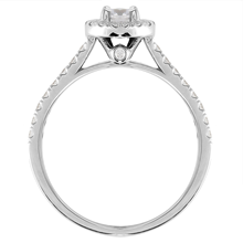 9ct White Gold 0.70cttw Diamond Halo Engagement Ring
