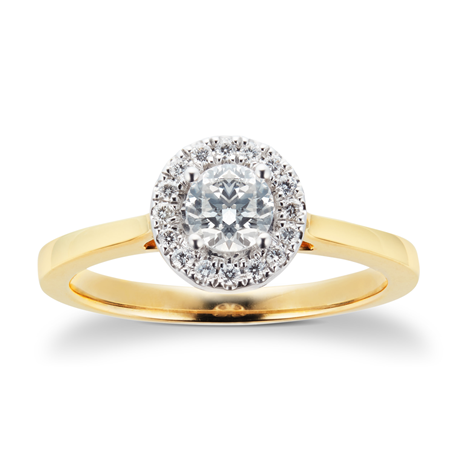 18ct Yellow Gold 0.50ct Goldsmiths Brightest Diamond Ring
