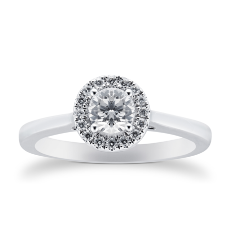 18ct White Gold 0.50ct Goldsmiths Brightest Diamond Ring