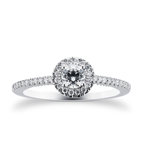 Platinum 0.50 Carat Goldsmiths Brightest Diamond Ring