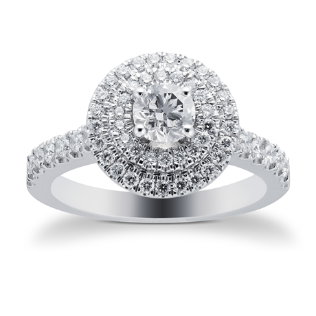 18ct White Gold 0.90ct Goldsmiths Brightest Diamond Ring