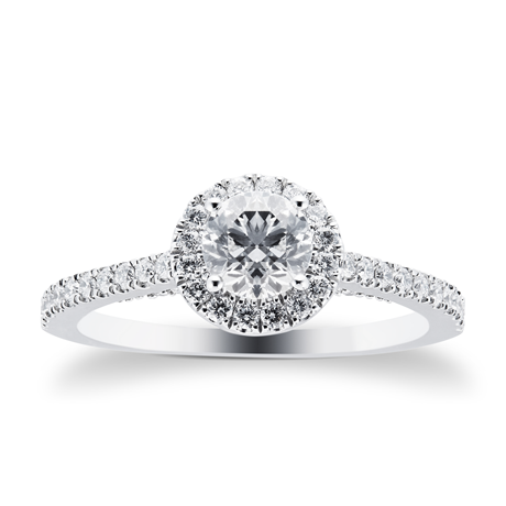 Platinum 0.95 Carat Goldsmiths Brightest Diamond Ring