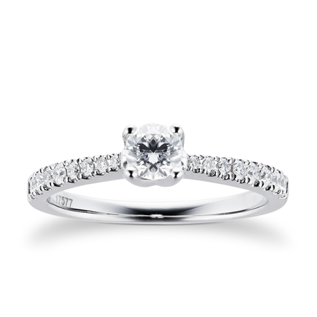 Platinum 0.50ct Goldsmiths Brightest Diamond Ring