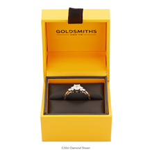 18ct White Gold 0.30cttw Goldsmiths Brightest Diamond Trefoil Engagement Ring