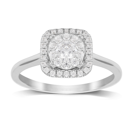 18ct White Gold 0.50ct Diamond Touch Set Ring