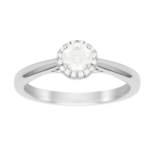 For Her - Brilliant Cut 0.50 Carat Total Weight Diamond Ring in Platinum