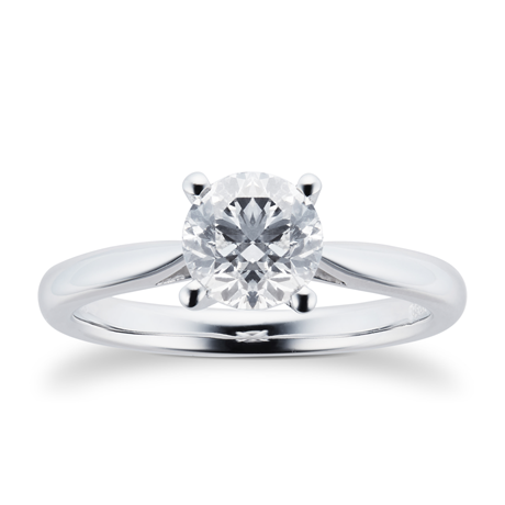 Platinum 1.00ct Brilliant Cut Diamond Solitaire Ring