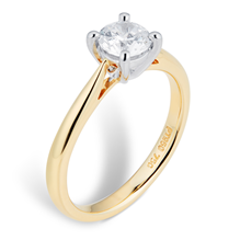 18ct Yellow Gold Brilliant Cut 0.70ct Solitaire Diamond Ring