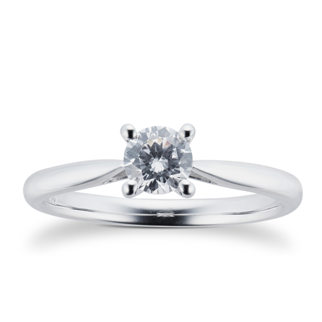 Platinum 0.40ct Brilliant Cut Diamond Solitaire Ring