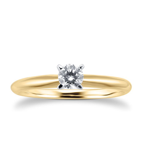18ct Yellow Gold 0.25cttwDiamond Solitaire Ring