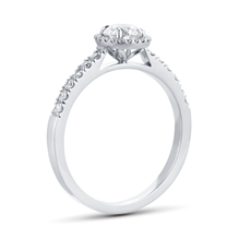 Platinum 0.72ct Brilliant Cut Diamond Halo Ring