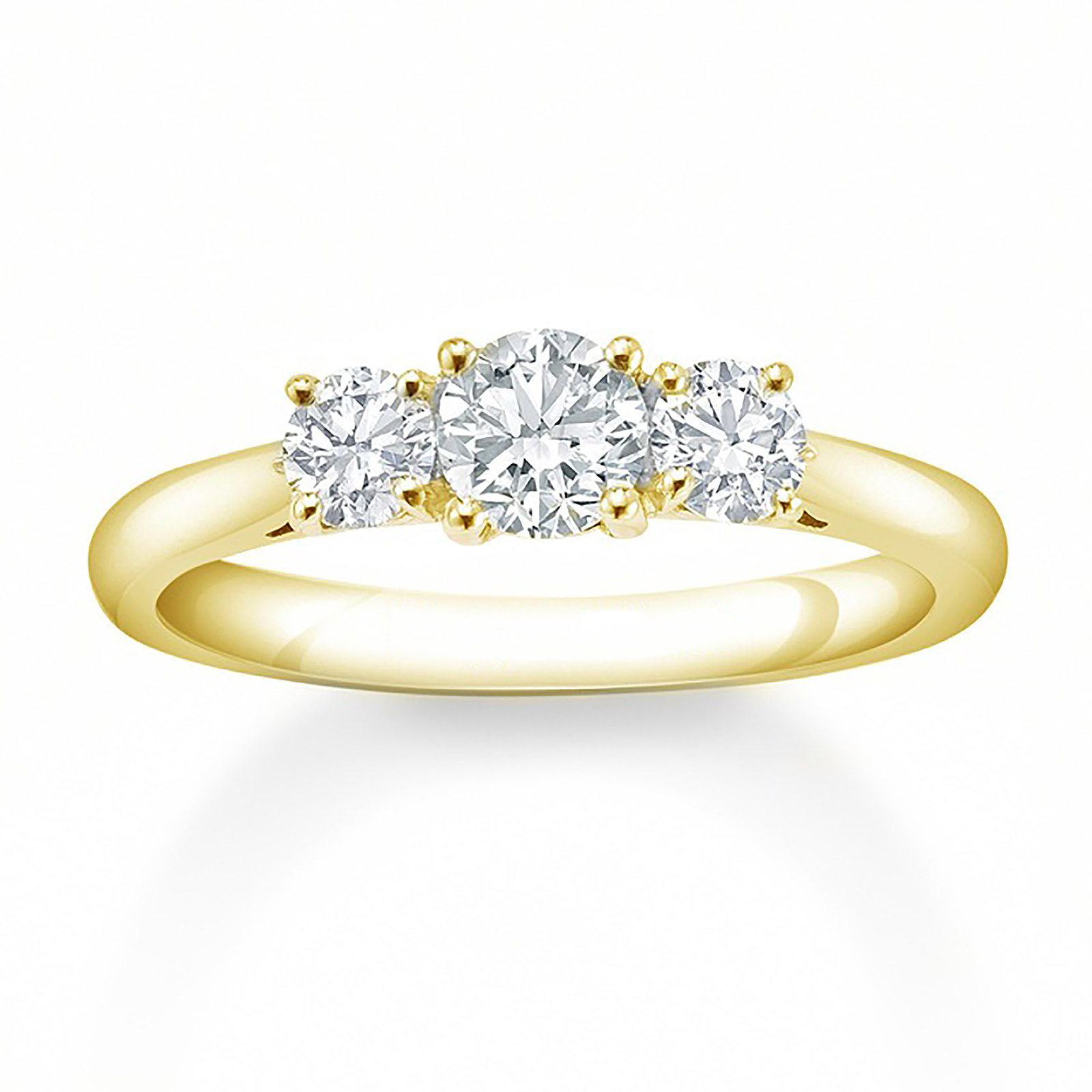 rings engagement wedding tacori three stone setting princess dantela platinum product