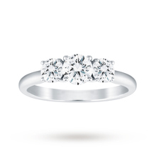 18ct White Gold 1.00cttw Diamond 3 Stone Ring