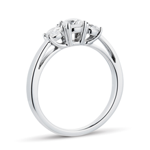 Platinum 0.70cttw Goldsmiths Brightest Diamond Three Stone Engagement Rings