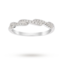 9ct White Gold 0.17ct Diamond Cross Over Eternity Ring