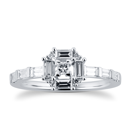 Renee 18ct White Gold 0.46cttw Cluster Ring