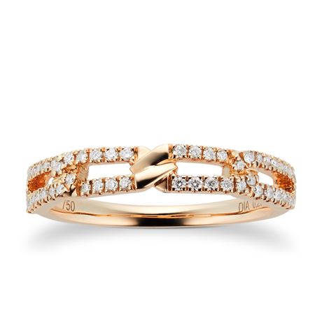 Harmony 18ct Yellow Gold 0.20cttw Diamond Stacker Ring